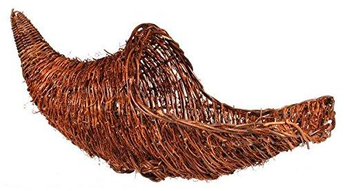 Grapevine Thanksgiving Cornucopia Basket  (20 inches long)