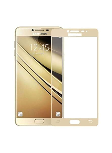 Case Creation Galaxy Note 5 Color Tempered Glass,Screen Guard Front Protector Full Edge Temper for Samsung Galaxy Note5  Gold