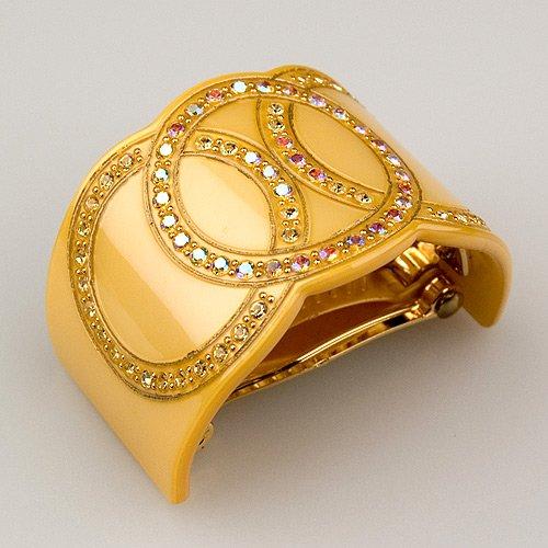 (Bel Esprit Gold - Cubitas Bellini Collection (Hand-set Swarovski Crystals, Hair Clip))