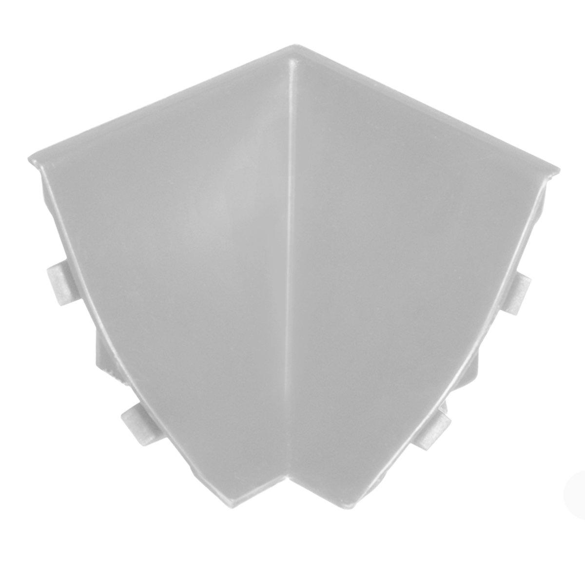 HOLZBRINK Innenecke passend zum Dekor Ihrer Abschlussleisten Schwarz Innenkante PVC K/üchenabschlussleiste 23x23 mm