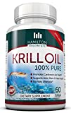 100% Pure Krill Oil Cold Vacuum Extracted Antarctic Krill Oil Providing a Powerful Dose of Powerful Super-nutrients By Hamilton Healthcare