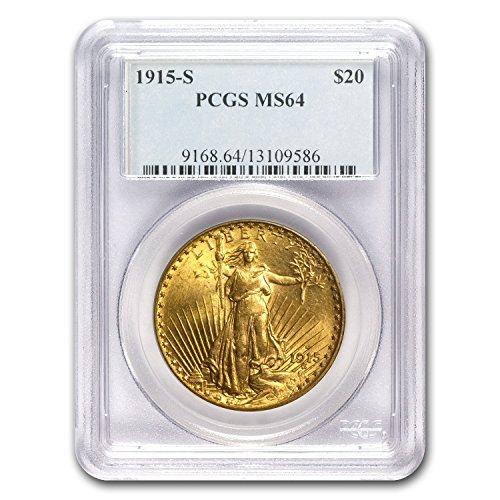 1915 S $20 St. Gaudens Gold Double Eagle MS-64 PCGS G$20 MS-64 PCGS