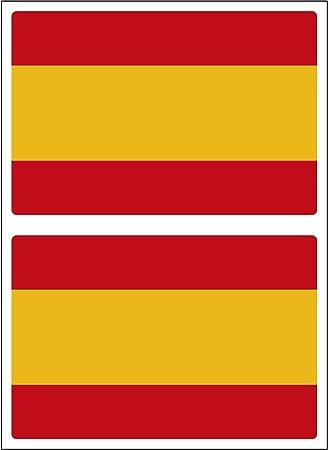 Artimagen Pegatina Bandera Rectangular España 2 uds. 60x40 mm/ud.: Amazon.es: Coche y moto