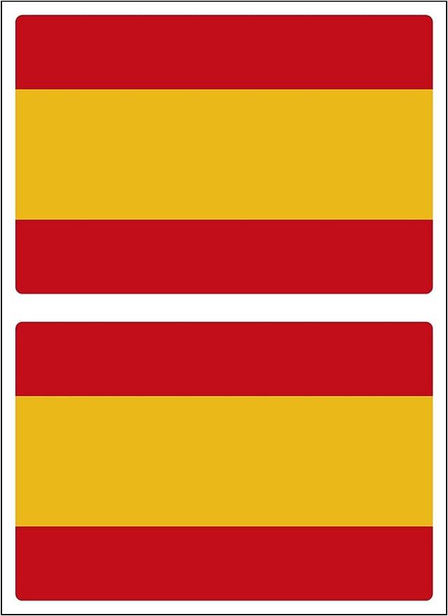 Artimagen Pegatina Bandera Rectangular España 2 uds. 60x40 mm/ud ...