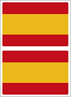 Artimagen Pegatina Bandera Rectangular España 80x60 mm.: Amazon.es: Coche y moto