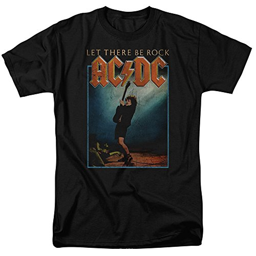 ACDC Let There Be Rock Mens Short Sleeve Shirt (Ac Dc Let There Be Rock Shirt)
