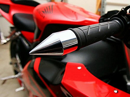 Chrome Bar Ends - i5 Chrome Spike Bar Ends for Suzuki Hayabusa