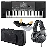 Korg PA600 61-Key Professional Arranger with Color Touchview Display + Professional Headphones + Keyboard Bag + Dust Cover - Top Value Accessory Bundle!