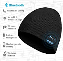 Bluetooth Beanie, Bluetooth Hats for Men and Women, Music Hat with Bluetooth Headphones, Electronic Gifts for Men, Fashion Gifts for Women
