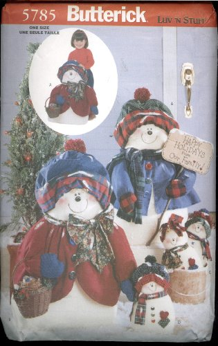 Butterick Luv 'N Stuff Snowflake Family (Snowman and Snowlady) Sewing Pattern - ()