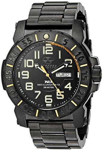 (REACTOR Men's 50507 Trident 2 Analog Display Quartz Black Watch)