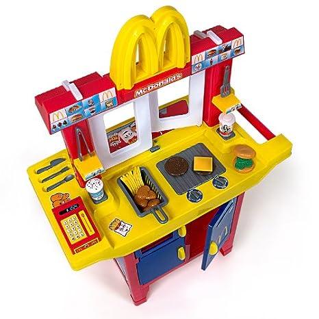 Puesto infantil McDonalds con complementos- 30 piezas: Amazon.es: Juguetes y juegos
