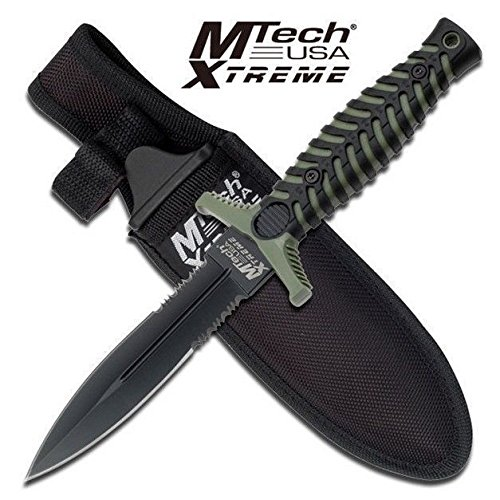 New MTech Xtreme Tactical Boot Eco'Gift LIMITED EDITION Knife with Sharp Blade Fixed Blade Double Edge 440C Dagger w/ Sheath