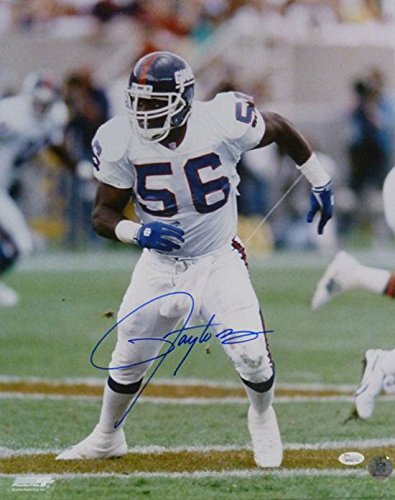 Lawrence Taylor Autographed Photo - 16x20 White Leg Open 15387 - JSA Certified - Autographed NFL (Lawrence Taylor Autographed Photo)