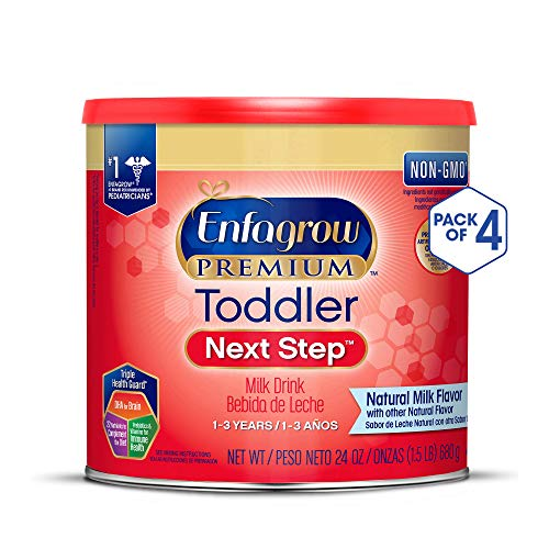 - Enfagrow PREMIUM Toddler Next Step, Natural Milk Flavor - Powder Can, 24 oz (Pack of 4)