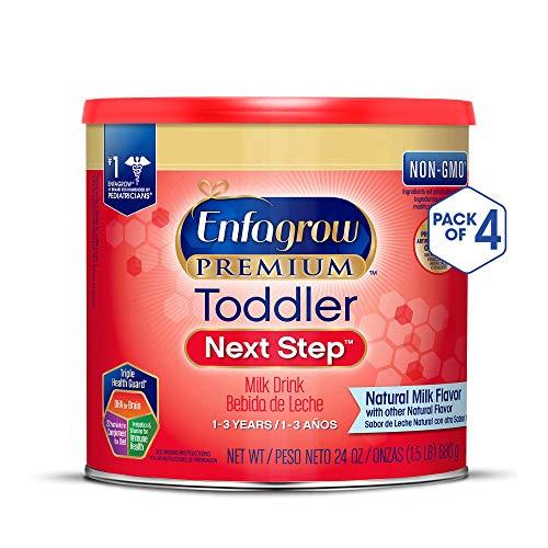 (Enfagrow PREMIUM Toddler Next Step, Natural Milk Flavor - Powder Can, 24 oz (Pack of 4))