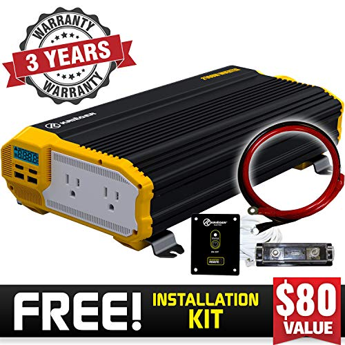 KRIËGER 2000 Watt 12V Power Inverter, Dual 110V AC outlets, Installation kit Included, Back up Power Supply for Small appliances, MET Approved According to UL and CSA Standards. by K KRIËGER (Image #7)
