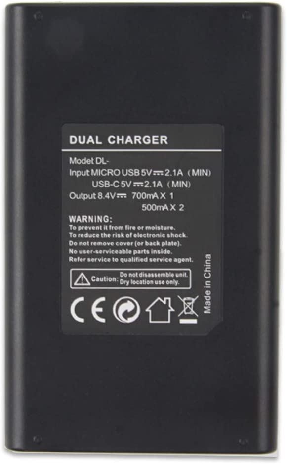 Battery Charger LCD Display Dual for D7200 D7000 D7100 D750 D800 D850