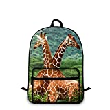 Dispalang 16.5 inch Giraffe Backpack for Children Cute Animal Print School Bookbags Review