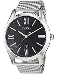 Hugo Boss Hugo Boss 1513442 Black / Silver Stainless Steel Analog Quartz Mens Watch