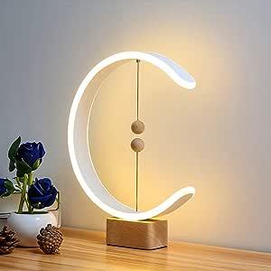 Heng Lámpara Equilibrio,LED Lámpara De Mesa De Noche Con Bolas Magnéticas Flotantes Interruptor,3 Temperaturas De Color,Flotando En El Aire USB Powered Luz LED: Amazon.es: Hogar