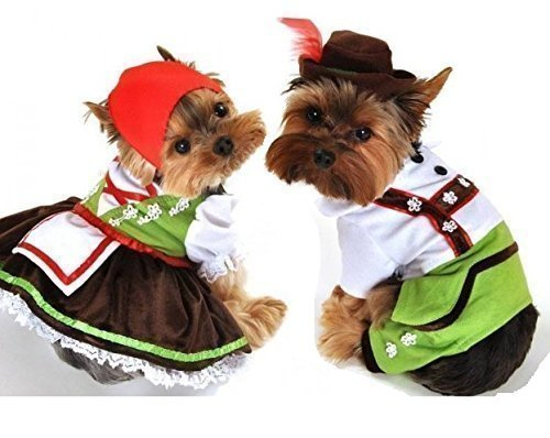 girl boy pet dog cat oktoberfest lederhosen halloween christmas fancy dress costume outfit clothes xs xl girl large amazoncouk pet supplies