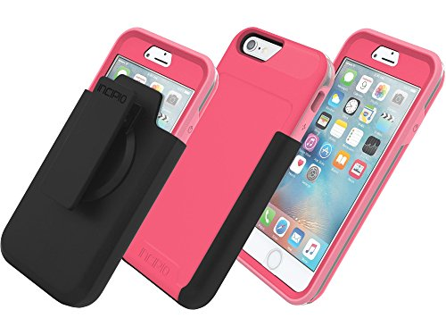 Incipio Performance Series Level 5 Case w/ Holster & Screen Protector for Apple iPhone 6 / 6s - Pink / Grey