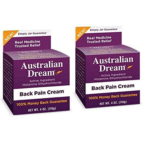 Australian Dream Back Pain Cream, 4 Ounce Per Jar (2 Pack) (Best Cream For Back Pain)