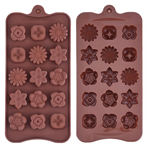 Mudder Silicone Chocolate Flowers Handmade