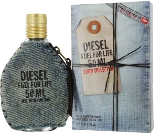 Diesel Fuel for Life Denim Eau De Toilette Spray for Men, 1.7 Ounce