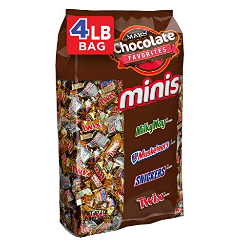 SNICKERS, TWIX, 3 MUSKETEERS & MILKY WAY Minis Size Easter Candy Variety Mix, 240 Pieces (3 Pack(240 Piece)) by Mars (Image #1)