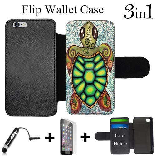 Baby Turtle Drawing Art Custom made Case/Cover/skin FOR Apple iPad Mini - Black - Plastic Snap On Case ( Ship From CA)