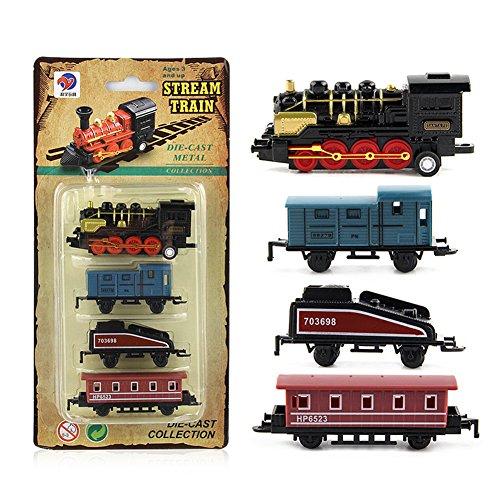 4 pcs enfants alliage simulation train à vapeur Creative Mini voiture modèles jouets cadeaux pour enfants