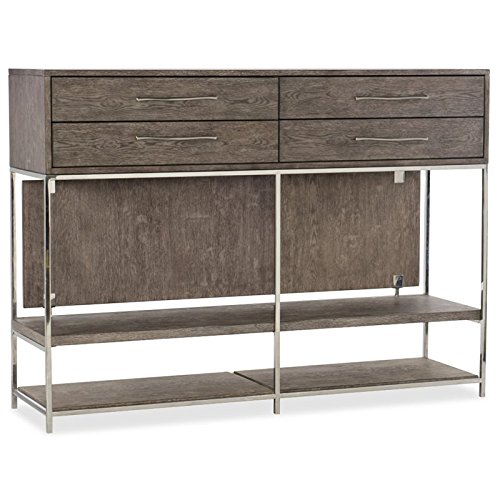 Hooker Furniture Storia 4 Drawer Console Table in Medium Wood Lateral File Console