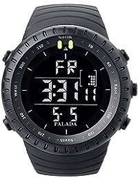 Men's All Black Sports Digital Wrist Watch Electronic...