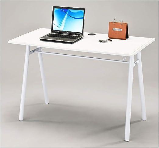 Meubletmoi Escritorio 120 cm Mesa para Ordenador Blanco Mesa pie ...