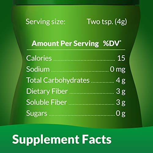 Benefiber Daily Prebiotic Dietary Fiber Supplement Powder for Digestive Health, 100% Natural, Clear and Taste-Free, 125 Servings of Fiber Powder, 17.6 oz.