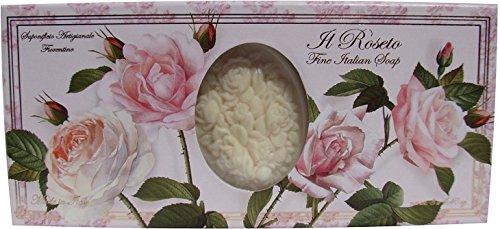 Saponificio Artigianale Fiorentino Soap Made in Italy - Il Roseto (Rose Scent), Three 4.4 oz bars