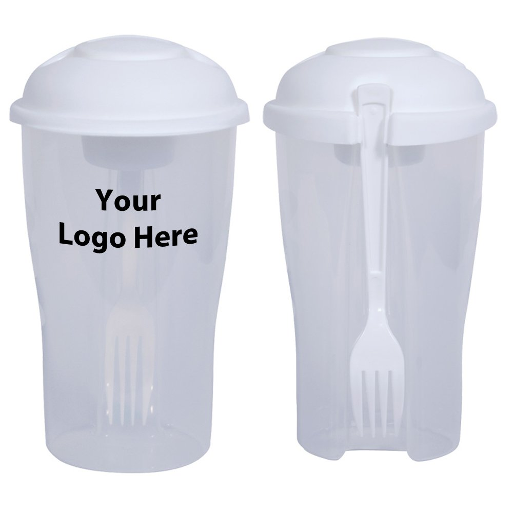 Salad To Go / Salad Shaker - 50 Quantity - $4.55 Each - PROMOTIONAL PRODUCT / BULK / BRANDED with YOUR LOGO / CUSTOMIZED