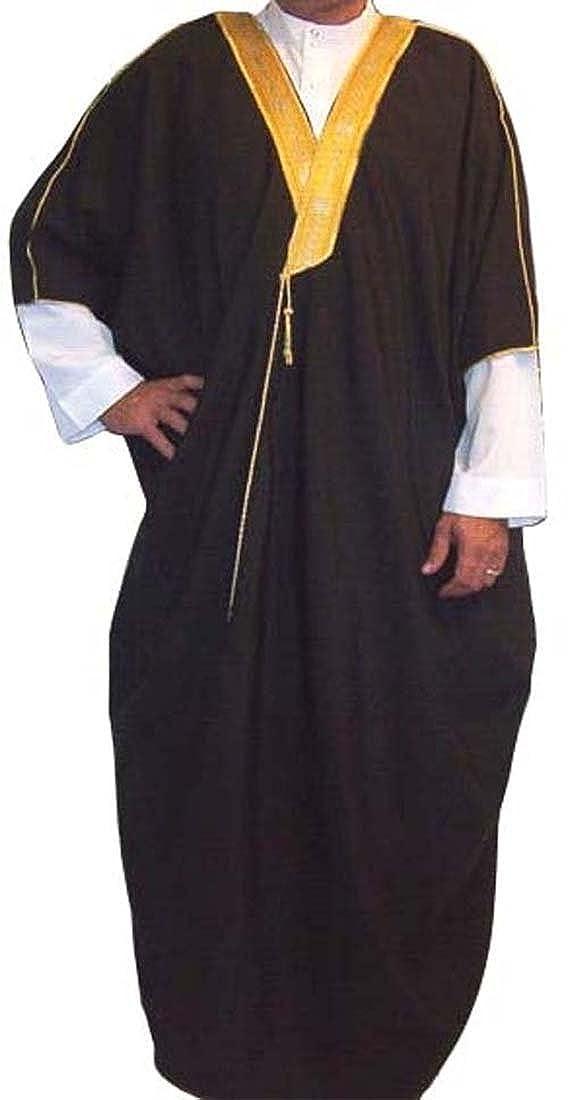 Amazon.com  Men s Jalabiya Bisht Arabic Middle Eastern Robe  Clothing 7f4fe7772