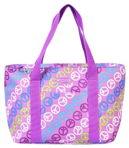 kora K2-137 Insulated Fashion Lunch Tote, Purple Peace