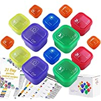 21 Day Fix Containers and Food Plan - Portion Control Container Kit for Weight Loss - Beachbody Portion Containers with…