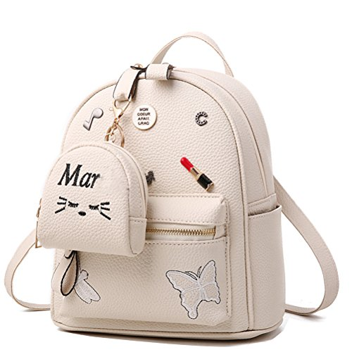 Donalworld Women Backpacks Girl Casual Flower Print PU Leather School Bags Small Col8 Col7