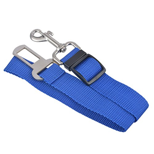 Hommall Haustier Auto Sicherheitsgurt für Hunde Hundegurt Sicherheitsgeschirr Hunde Adapter Auto sicherheitsgurt dunkelblau