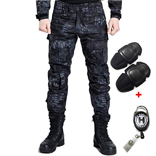 H Welt EU Militär Armee Taktische Airsoft Paintball Schießen Hosen Kampf Männer Hosen mit Knie Pads
