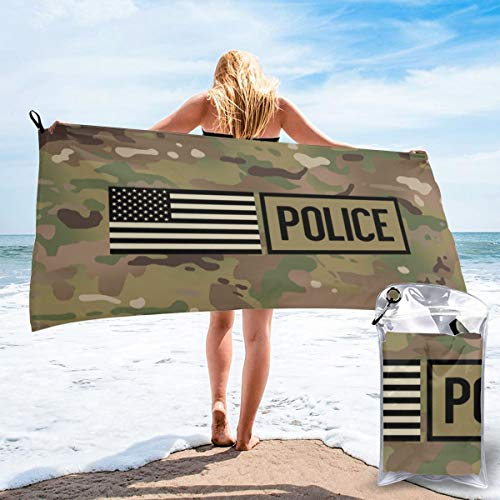 (Police Woodland Camouflage Beach Quick Drying Towel Microfiber Yoga Fitness Absorbent Towel Outdoor Climbing Quick Drying Towel)