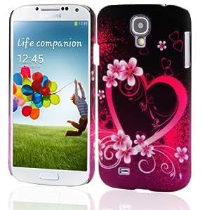 CADORABO ! Samsung Galaxy S4 (I9500) Hard Cover Bumper Design : No.3 - Pink Heart