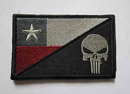 Parche con diseño de bandera de Chile y calavera militar, bordado con insignias tácticas para ropa con gancho y lazo: Amazon.es: Juguetes y juegos