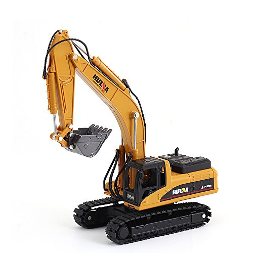 1/50 Scale Diecast Crawler Excavator Construction Vehicle Car Models Toys for Kids by HuiNa (Image #3)