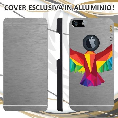 CUSTODIA COVER CASE AQUILA 3D PER IPHONE 5S ALLUMINIO TRASPARENTE